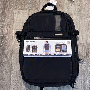 DUCHAMP LONDON extendable travel backpack suitcase